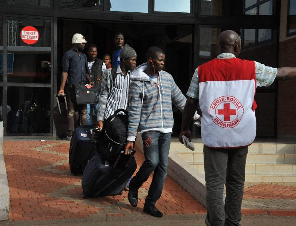 Burkinabe migrants back from Libya